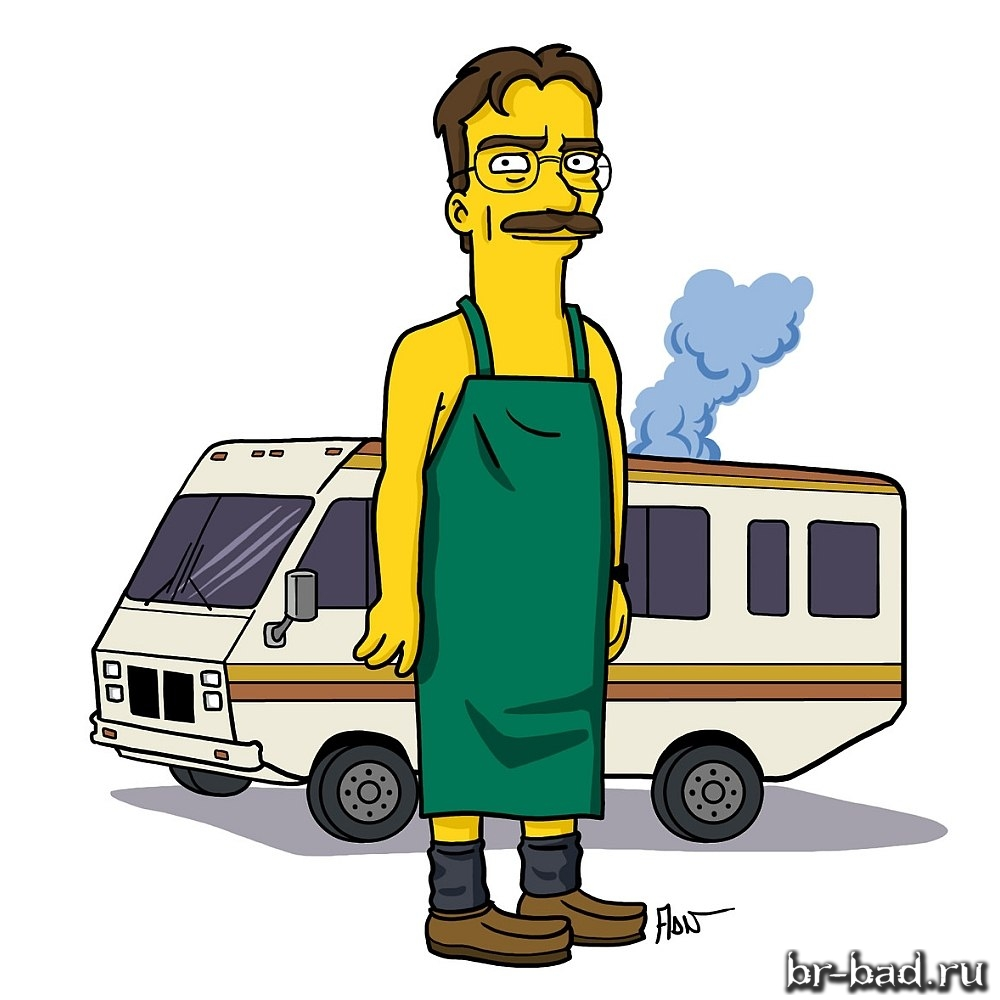 Simpsonized Walter White